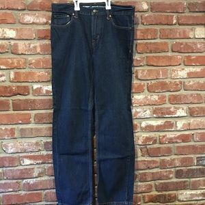 Men's dark denim jeans
